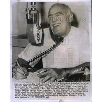 1959 Press Photo Big Joe Rosenfield Radio Jockey - RRX37847