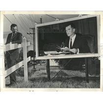 1961 Press Photo David Brinkley journall billboard - RRX98093