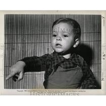 1949 Press Photo Jacky Jenovese Yes Sir That's my Baby - RRW06957
