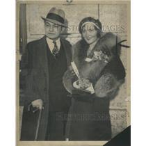 1931 Press Photo Edward Robinson Gladys Lloyd Robinson Hollywood Rosenthal