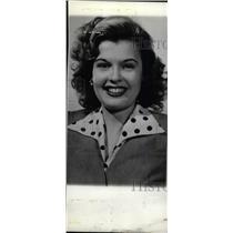 1942 Press Photo Peggy Knudsen star character artist - RRW79377