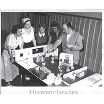 1959 Press Photo William Murphy Alice Drake TV Station