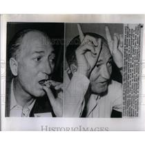1950 Press Photo Reporter Gets High On Mexican Mushroom - RRX52589