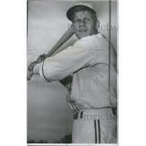 1976 Press Photo Colorado University Baseball Player Larson Batting Pose