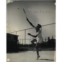 1935 Press Photo Tom Harper Playing Tennis - RRX72661