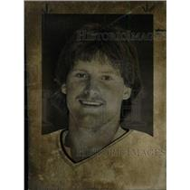 1984 Press Photo Glenn Healy Western Michigan Hockey - RRW83187