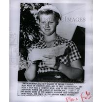 1954 Press Photo Mary Mills American Golfer - RRX50101