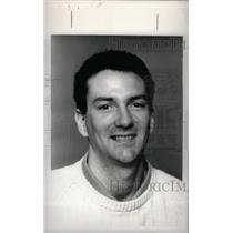 1988 Press Photo Chris Drogosch Basketball Coach - RRX40425