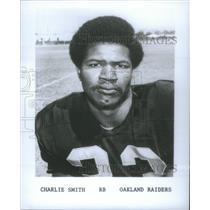 1974 Press Photo Oakland Raiders Right Back Smith Roster Portrait - RSC28353