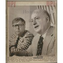 1974 Press Photo Jack Gordon, General Manager & President Walter Bush