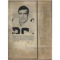 1969 Press Photo New York Giants Flanker Pee Gent - RSC27313