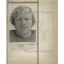 1975 Press Photo Jack Mildren Football Baltimore Colts New Englaand Patriots