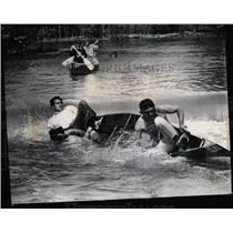 1973 Press Photo Des Plaines Canoe Race Ryerson Dam