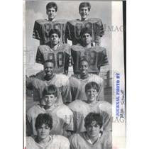 1986 Press Photo roster Wheaton Central High School foo