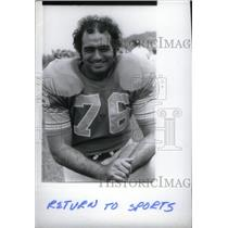 1975 Press Photo Detroit Lions Tackle Rocky Freitas - RRX38985