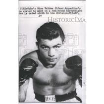 1958 Press Photo New York Cuba Nino Valdes Argentina heavyweight Mitaff division