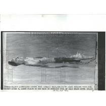 1970 Press Photo Spiro Agnew Swimming pool Bali beach