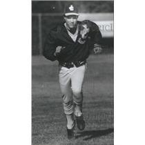 1981 Press Photo Joliet Catholic High School Pitcher Grant Running - RSC29667