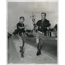1959 Press Photo Chicago US American Torch Pan Games - RRW24699