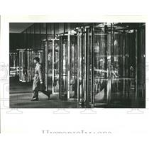 1982 Press Photo Jungle gym glass Chrome Monore Blood