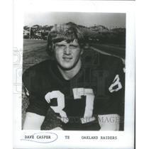 1980 Press Photo Oakland Raiders Tight End Casper Roster Portrait - RSC28319