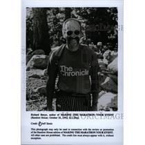 1992 Press Photo Richard Benyo Journalist Runner Mich - RRW98025