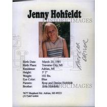 1981 Press Photo Jenny Hohfeldt race car driver - RRX40129