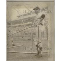 1967 Press Photo Los Angeles Angels Manager Rigney Watching Batting Practice