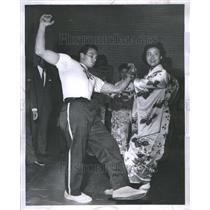 1963 Press Photo Ralph Donald Hiroko Kobayashi Judo