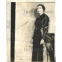 1935 Press Photo Princess Marie Mercedes Bourbon Orleans Infante Juan Wedding