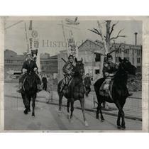 1948 Press Photo Japanese Horseback Advertising - RRX75501