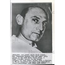 1958 Press Photo Domonique Georges Pire Nobel Prize - RRX88911