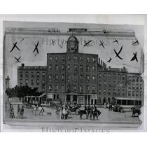 1946 Press Photo Illustration National Hotel Detroit