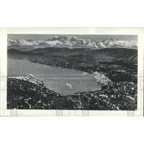 1939 Press Photo Swiss National Exposition Zurich Lake - RRX80979