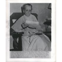1946 Press Photo Emily Greene Balch Nobel Prize Winner - RRX89025