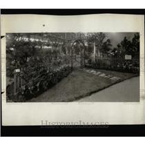 1932 Press Photo Garden Club Exhibit Annual Flower Show