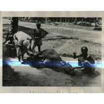 1931 Press Photo A Wayside Blacksmith - RRX80689