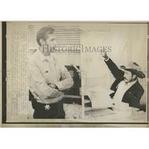 1974 Press Photo Kootenai Indian Tribe