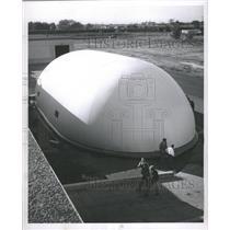 1956 Press Photo U.S. Rubber Co nylon warehouse Caiumet - RRW37089