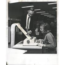 1967 Press Photo CITRAN Computing System Demonstration - RRW49021
