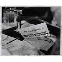 1954 Press Photo Wayne Collegian Communist Inquiry - RRW90645