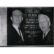1966 Press Photo Douglas McMahon Horst Pose NY Jail - RRW85655
