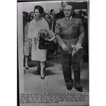 1963 Press Photo Generalissimo Franco Wife Madrid Walk - RRW99349