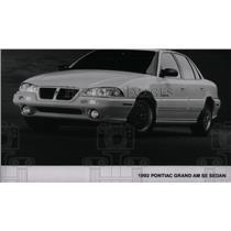 1992 Press Photo Pontiac Grand Am SE Sedan - RRX55081