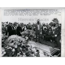 1963 Press Photo Funeral Being Held, Woodland Cemetery - RRY61829