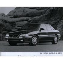 1994 Press Photo Pontiac Grand Am Se Sedan - RRX55071