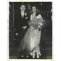 1935 Press Photo Miss Virginia Lincoln Marriage Chicago - RRX89765