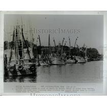 1977 Press Photo Shrimp boats in port at Bayoy La Batre