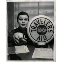 1962 Press Photo Travelers Aid Volunteer Mrs Kenneth - RRW23437