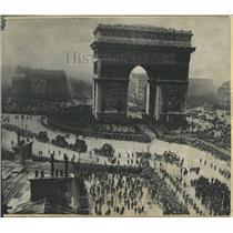 1936 Press Photo Arc deTrimophe Paris France Beneath - RRX82039